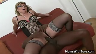 Blonde Granny Aja Fucks Massive Black Schlong -Full