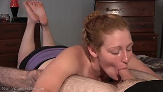 Natural Redhead MILF Ivy Sucks a Load out of Hubby's Throbbing Cock