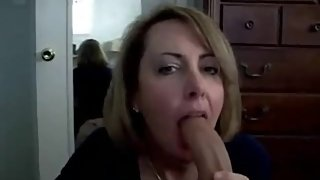 Step Mom suck own son