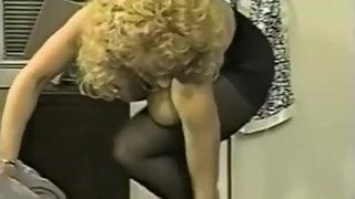 Danni Ashe Takes Off Her Bra And Skirt Showing Pantyhose sexygirldating.com